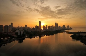Bocagrande-Sunset-Cartagena-Colombia