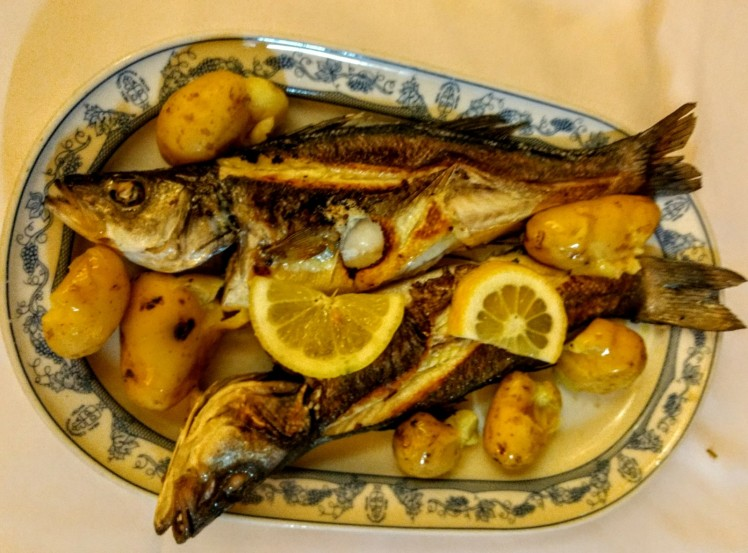 grilled Sea bass Porto portugal